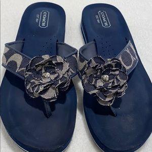 Coach Sandals Navy Blue size 6.5